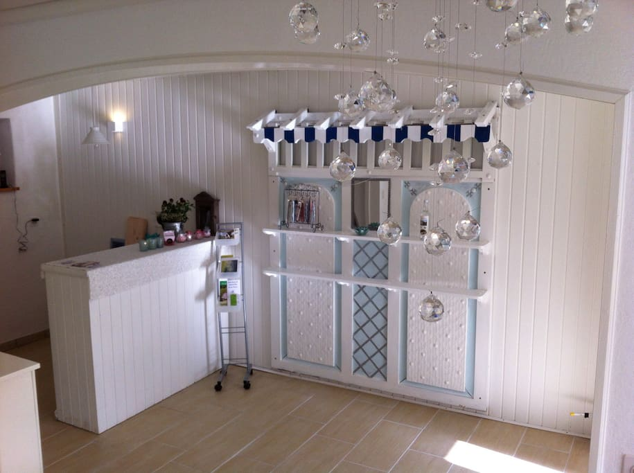 Reception and little homemade shop