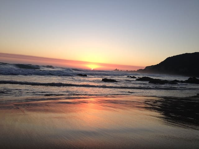 Gorgeous sunsets - Noetzie Beach