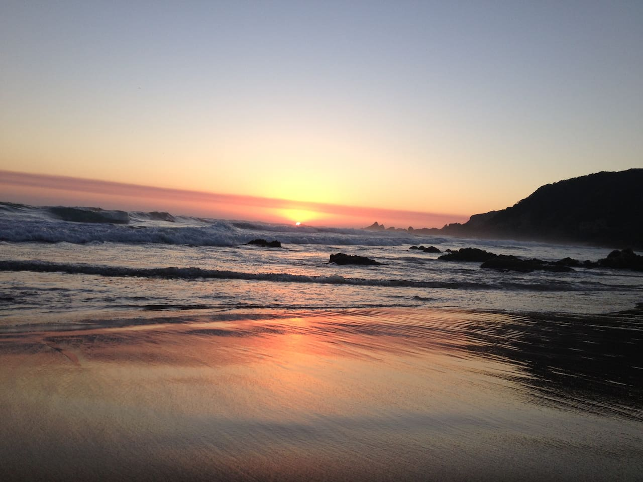 Gorgeous sunsets - Noetzie Beach