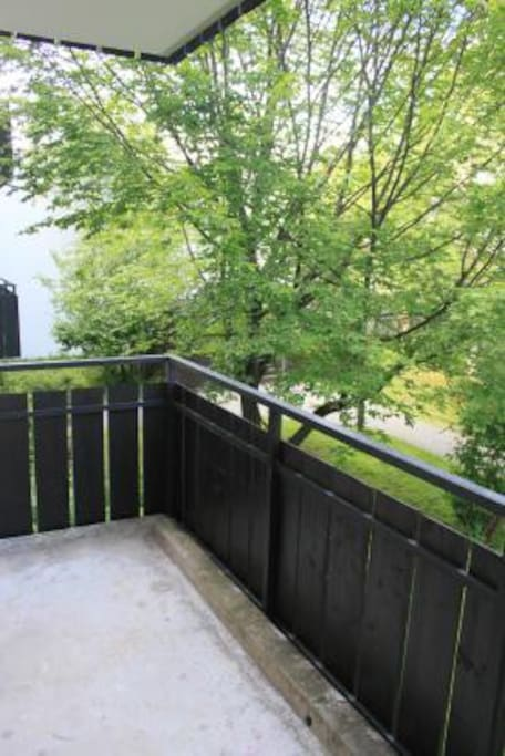 Der Balkon im Innenhof