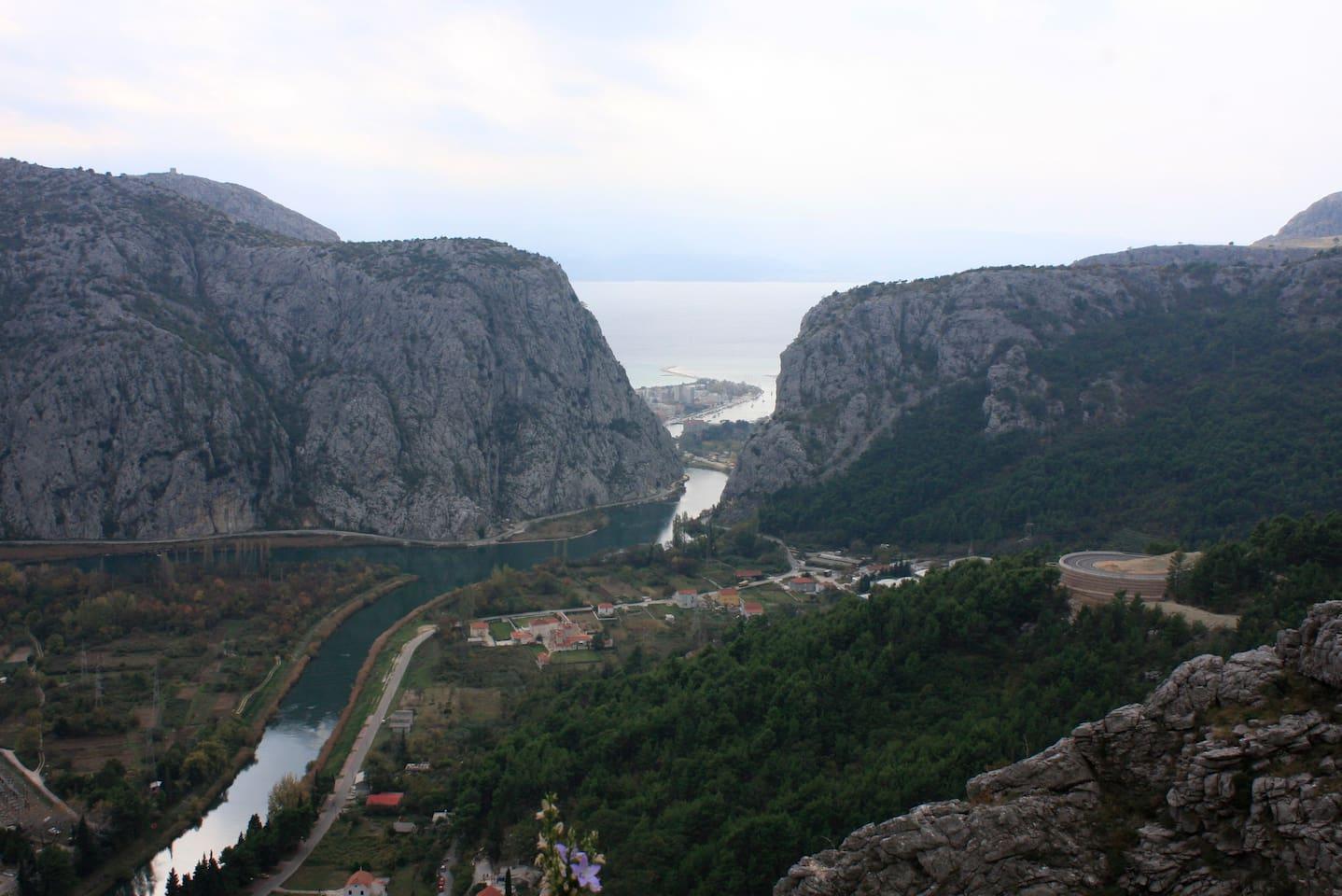 Canyon of river Cetina