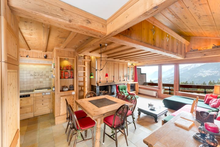 Penthouse next to Le Régent College - Crans-Montana