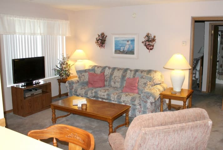 Comfy Condo 1 bed 1 bath- Close to Pool.  No Steps. Table Rock Lake. Vintage country-style dcor. Close to Lake and SDC!