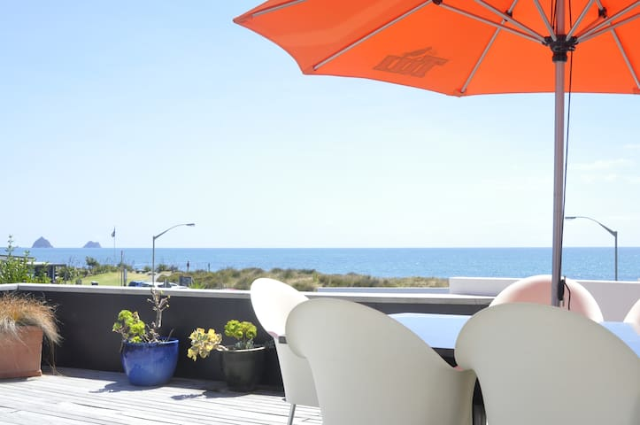 STUNNING BEACH FRONT HOUSE IN PRIME CBD LOCATION - New Plymouth - Huis