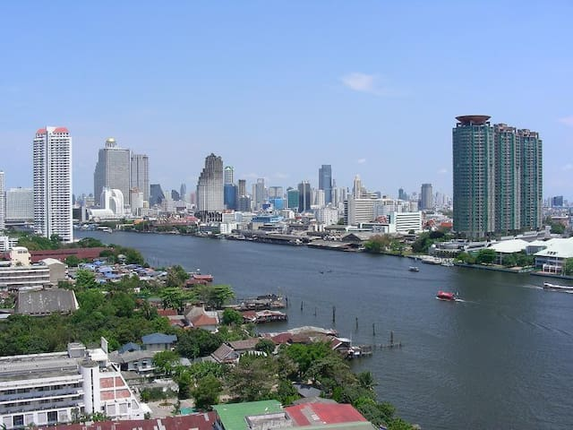 The most beautiful river view Bangkok ,Wifi50mb BR
