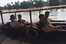 Guest enjoying Canoe in backwaters