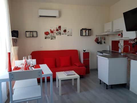 T2 lumineux, climatisé, moderne et confortable