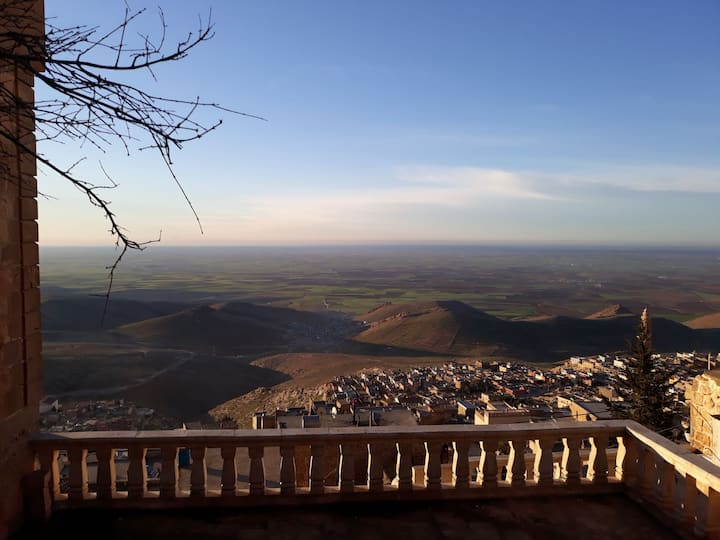 Old stone house in old Mardin with excellent views