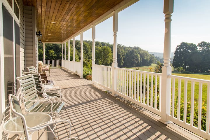 The Spacious Front Porch Offers Panoramic Views
