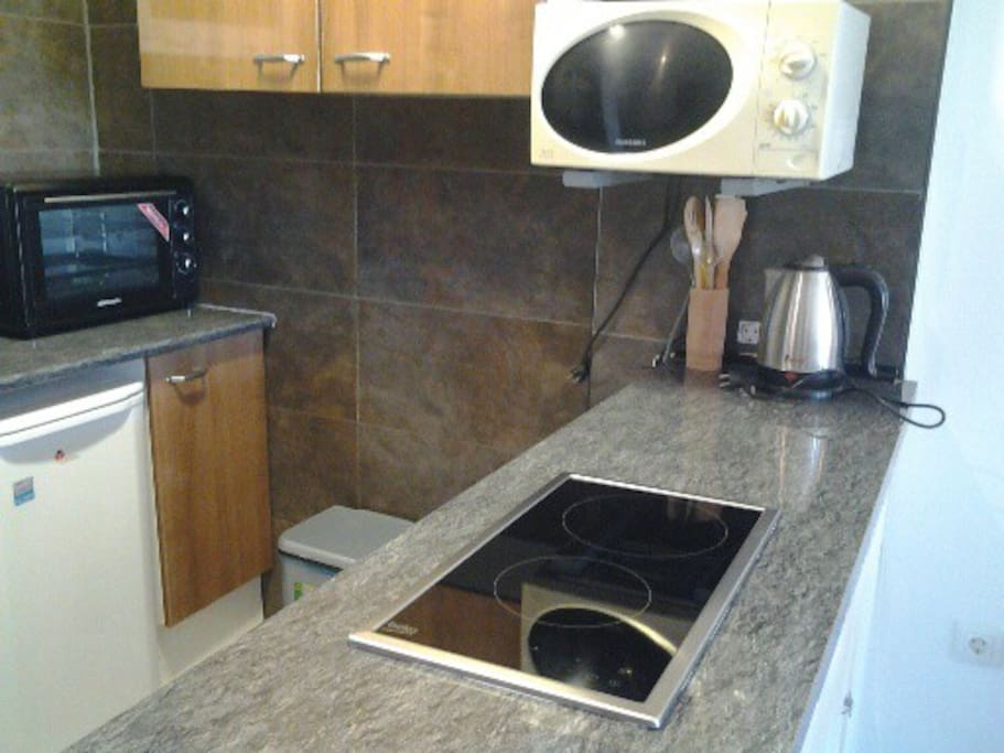 New digital ceramic hob with two rings