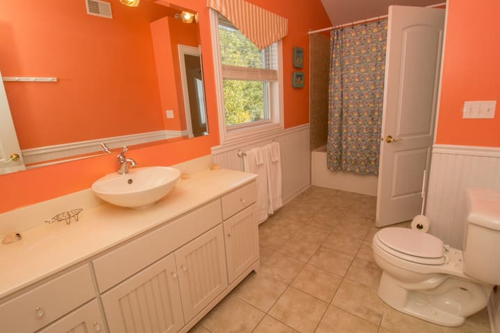 Full Bath attached to Bedroom 5 on 3rd Floor