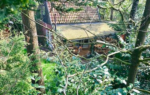Romantisch natuurhuisje, sauna, houtkachel