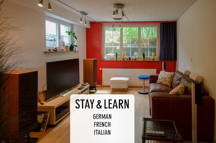 Stay and learn German or French or Italian