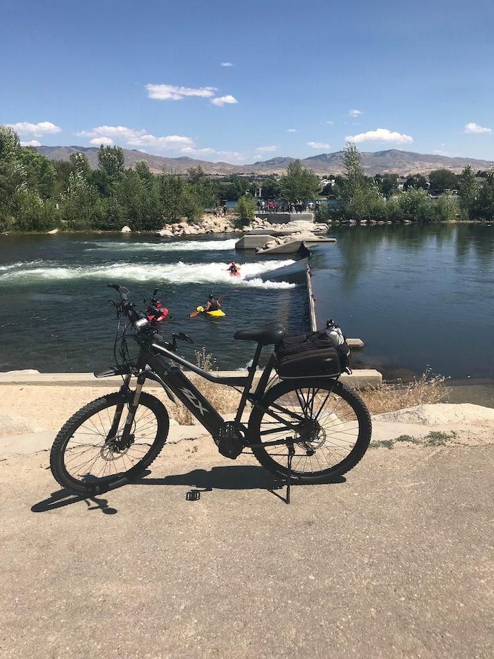 Boise River float put in