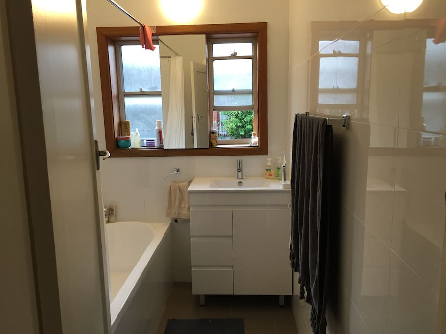 Recently renovated bathroom. Clean and modern.