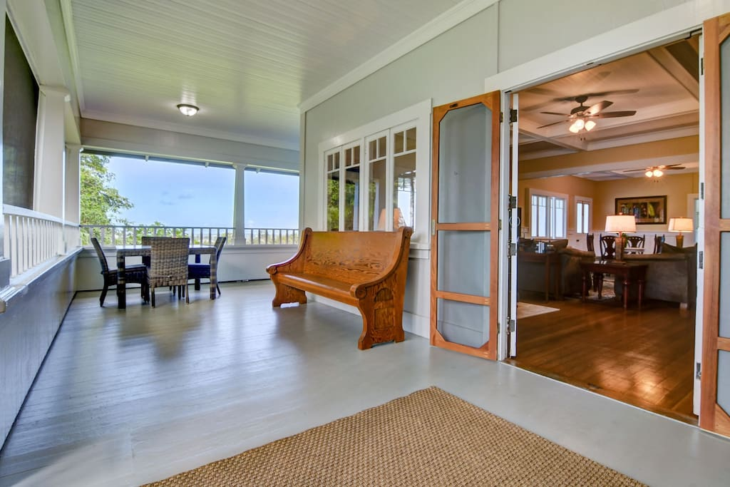 The large, wrap around lanai is screened for your easy enjoyment!