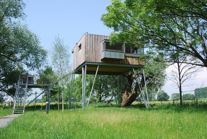 Baumhaushotel Krautsand Haus LOTTI - Drochtersen - Rumah atas pokok