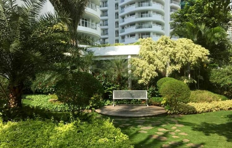 Enjoy the relaxing green garden environment