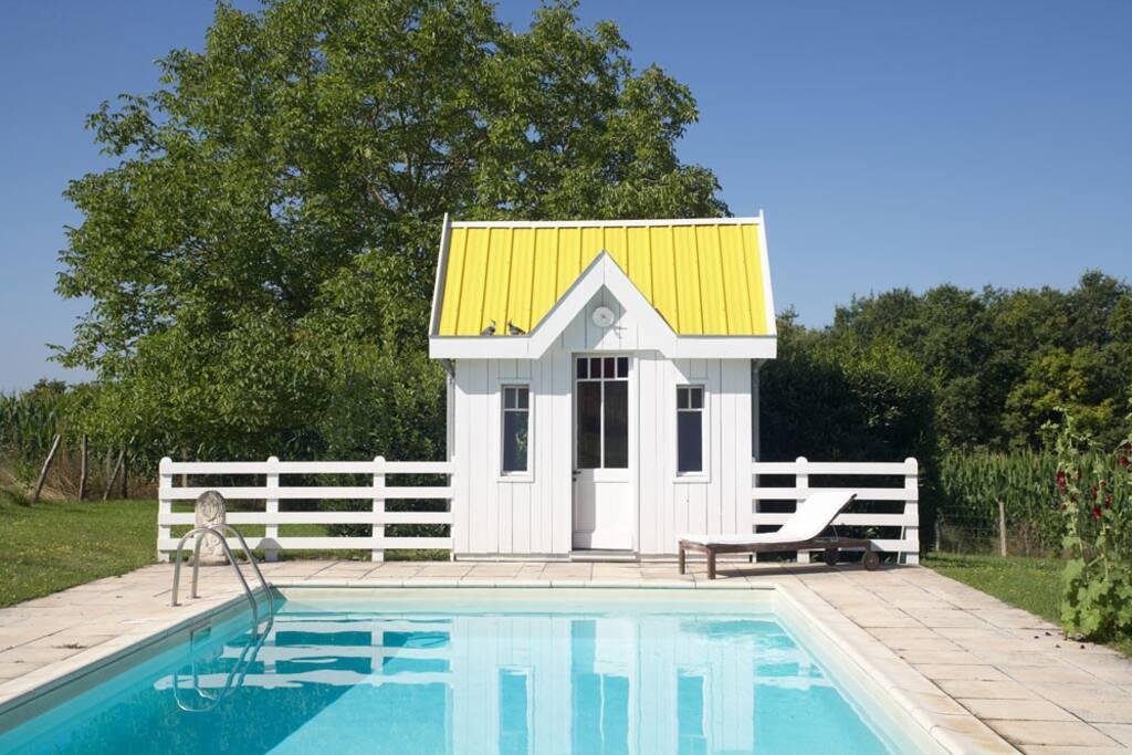 Das Poolhaus von Chez Jouan