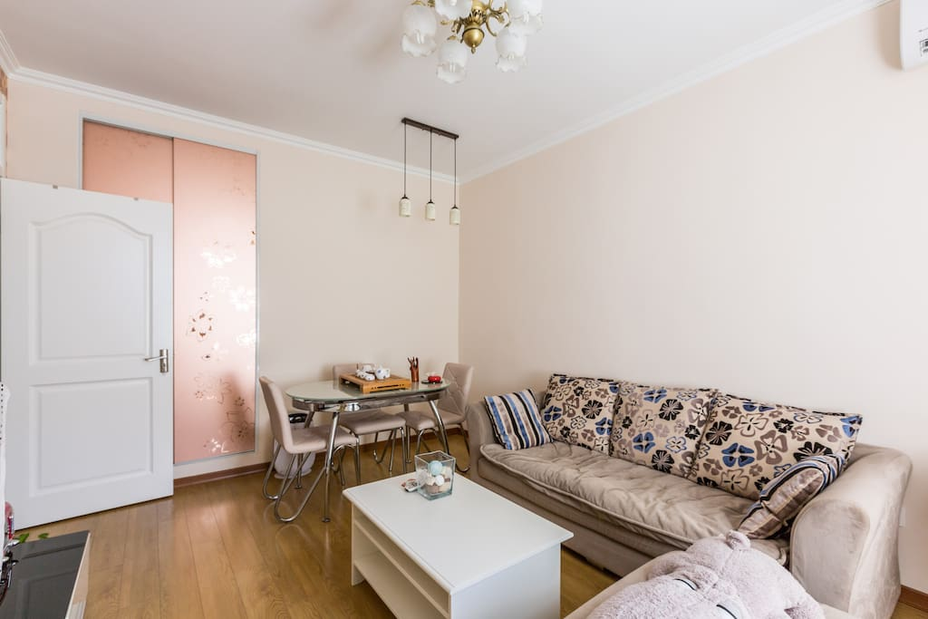 Sofa , teawares and air purifier
