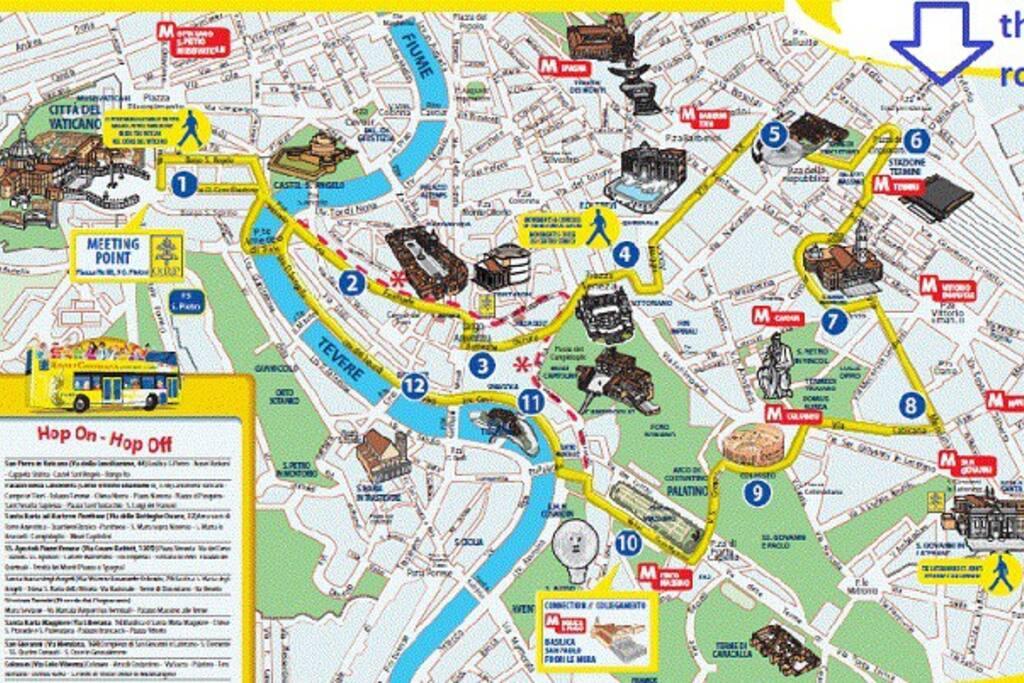 Mappa di Roma.