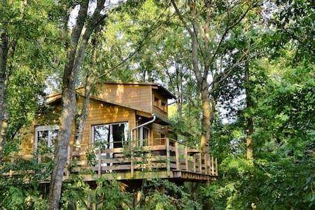 Cabane dans les arbres Paris Disney - Le Plessis-Feu-Aussoux - Rumah Pohon