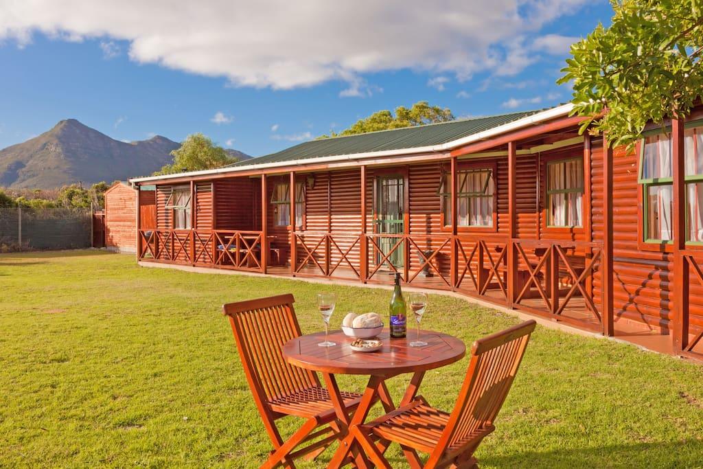 Log cabin creates holiday feel