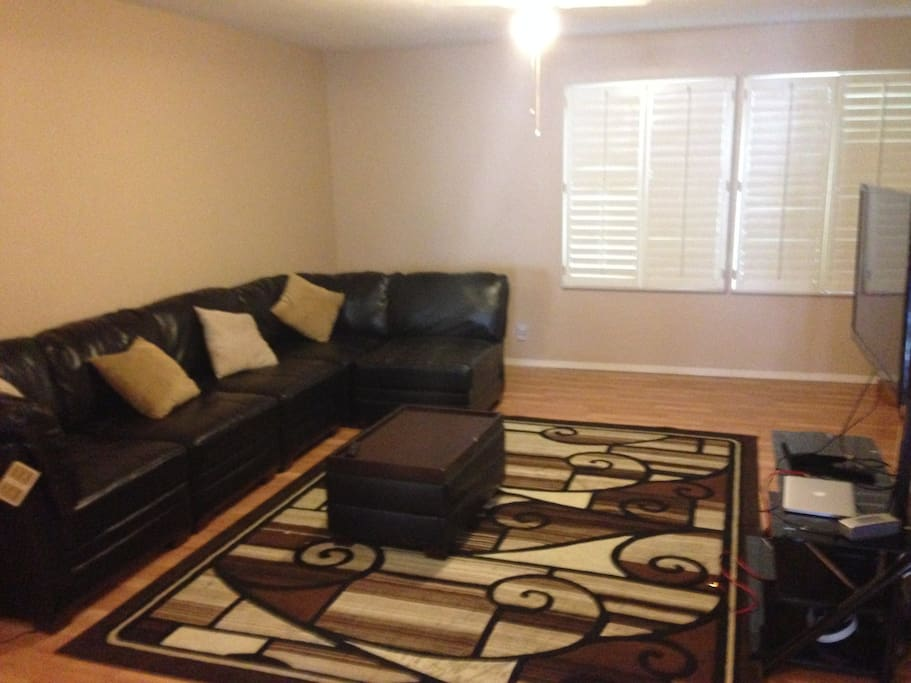 Very open living space. Brand new large,comfortable couch!