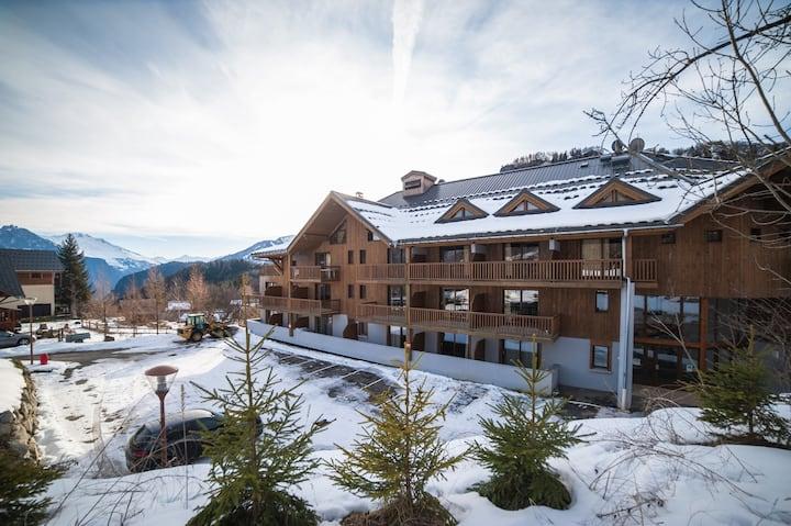 Appartement proche des pistes avec accès piscine + casiers à ski