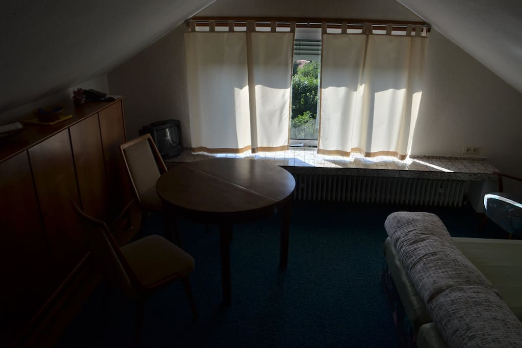 Studio-Apartment mit Doppelbett (aus 2 Einzelbetten bestehend) mit Pantry-Küche