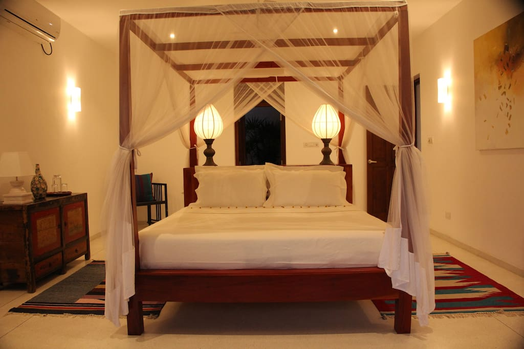 The beautiful, luxury room in the evening.