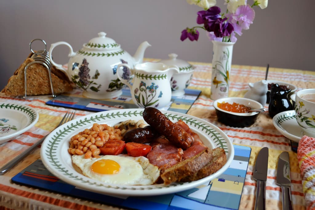 Full English Breakfast included in the price (delicious veggie option available).
