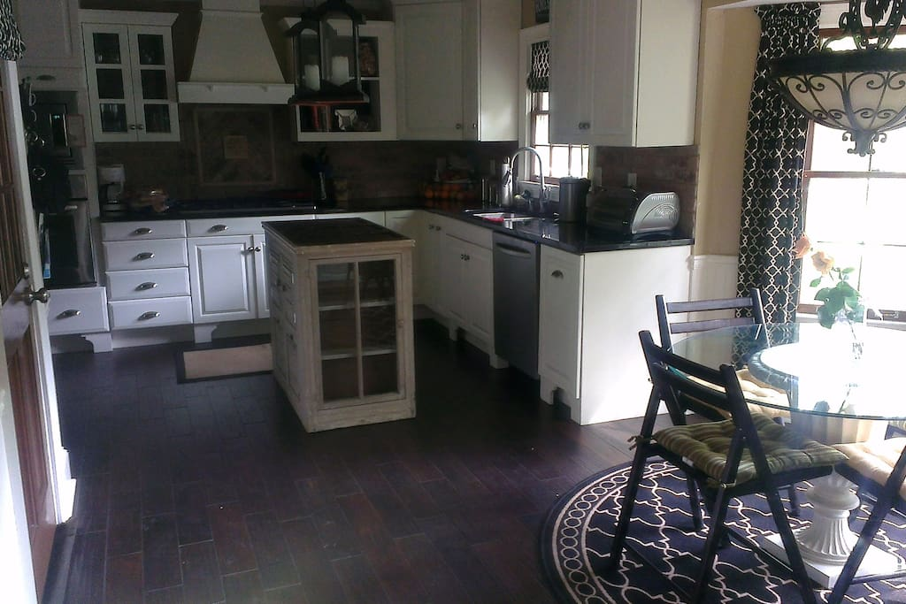 Kitchen on the main floor with breakfast nook area