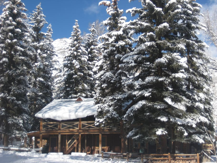 The Lodge in Winter