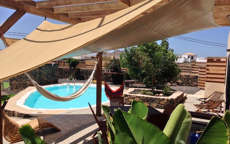 °Villa+pool (10p) Lajares centre-°