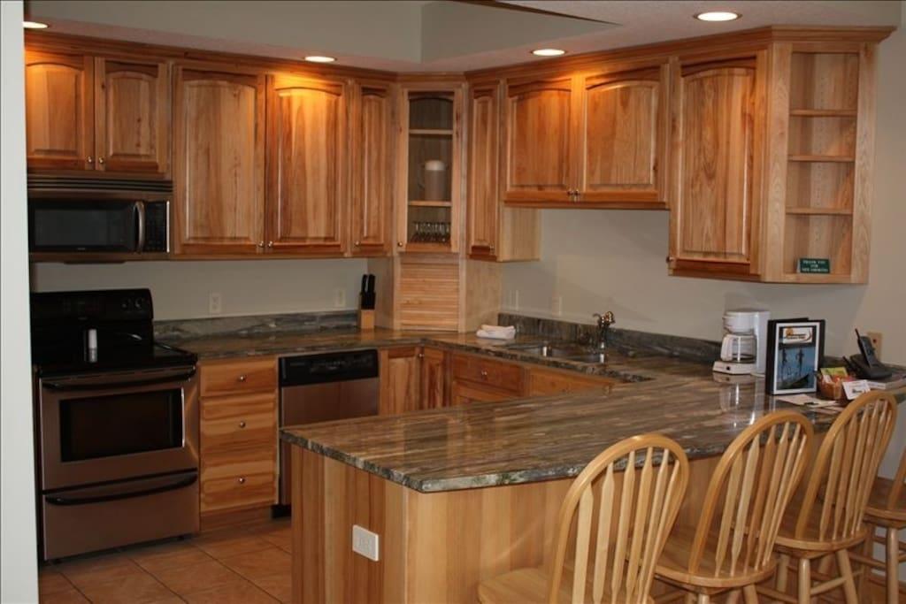 Kitchen, fully stocked