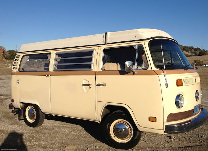 1976 VW Bus. Sleep where you want!