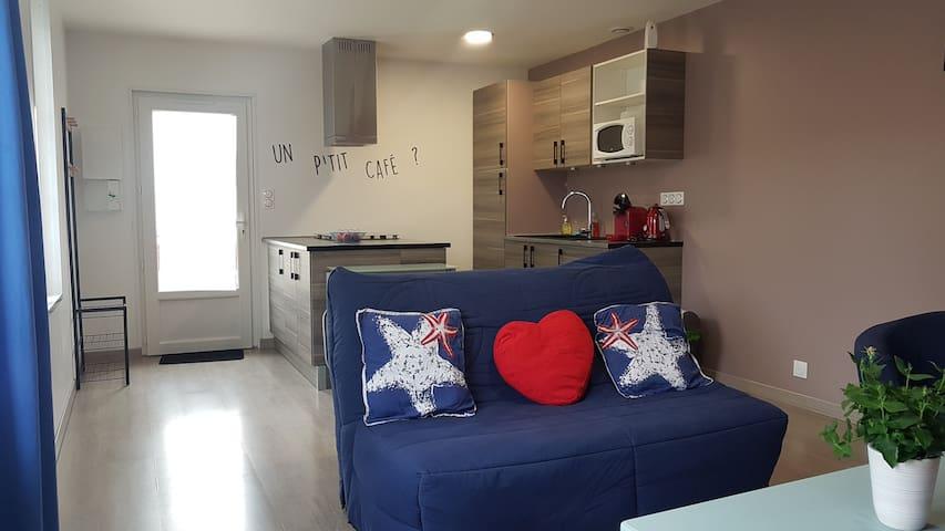 Studio climatisé pour 4 personnes avec 1 chambre