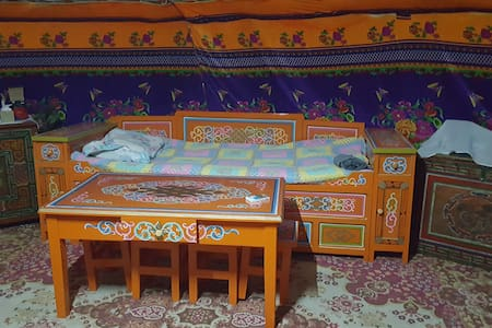Mongolian traditional house GER near the FARM
