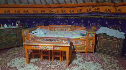 Mongolian traditional house GER near the FARM