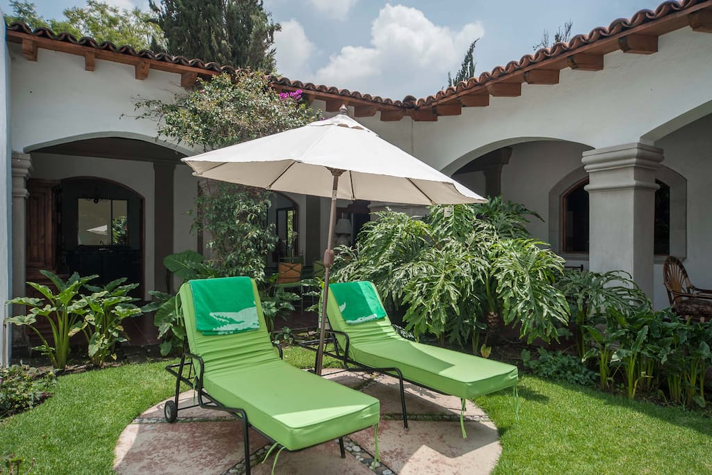 Lounge chairs to relax