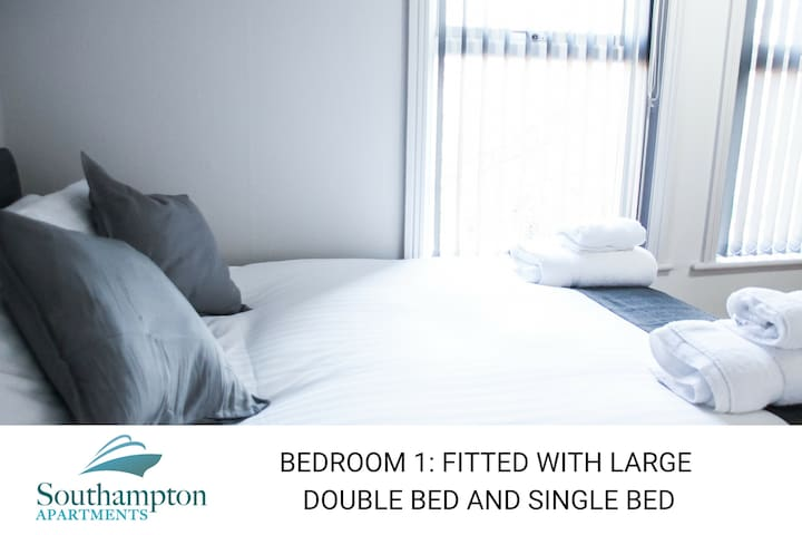 Up to 6 stay in style in smart Southampton flat