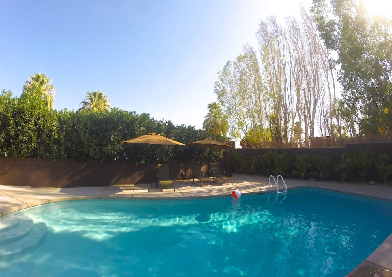 Extra Large Private gated  Pool with heater