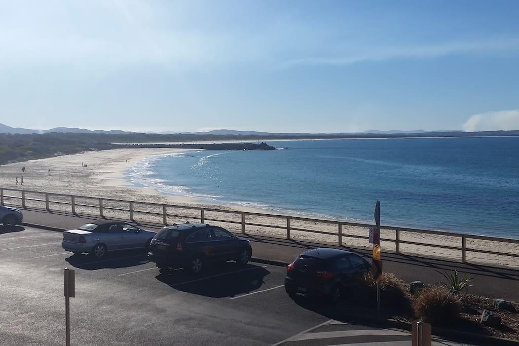 Directly opposite Forster Beach