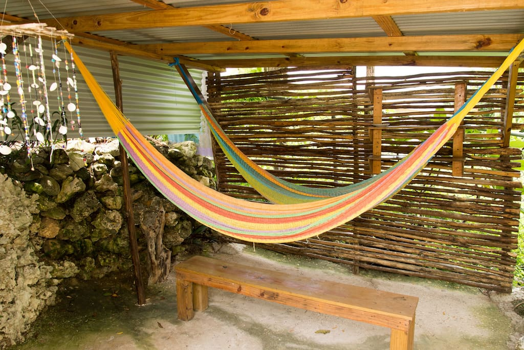 Two Hammocks in Cabana to 'hang' out!