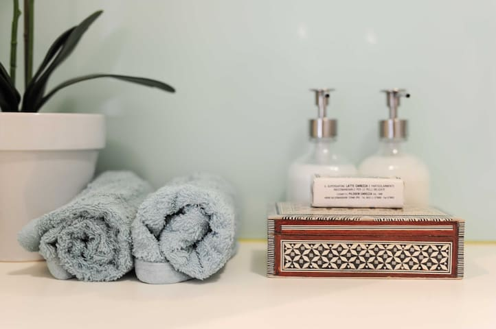 Luxe treats for guests in the bathroom
