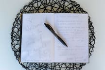 I love guests to add their comments and suggestions to the Guest book