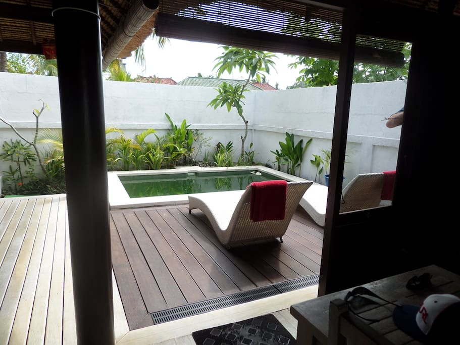 Deck and plunge pool