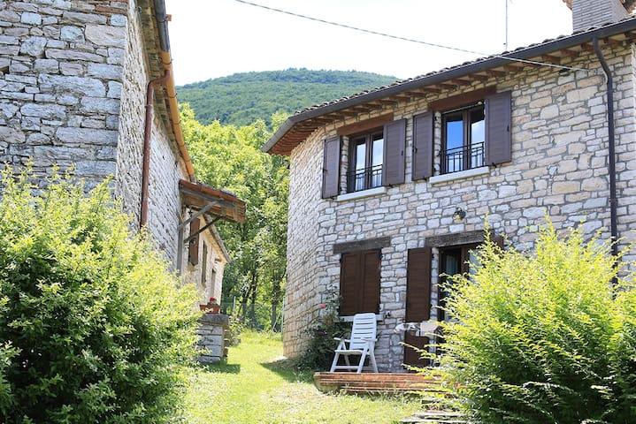 Rustico in borgo Ristrutturato - Acqualagna -  Abbadia di Naro - Hytte