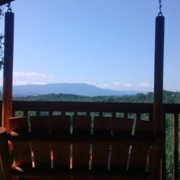 Porch swing view